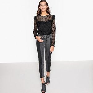 Jeans skinny com barras a contrastar La Redoute Collections