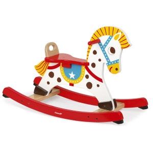 Cheval a bascule punchy bois jurj05981 multicolore JANOD