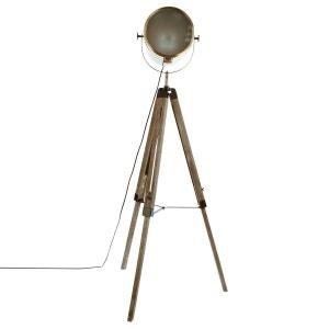 Lampadaire bois et métal Ebor - Hauteur 152 cm - Marron ATMOSPHERA