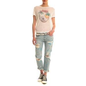 Jeans Boyfriend Denim & Supply Ralph Lauren Bleu Destroy Peinture DENIM AND SUPPLY RALPH LAUREN