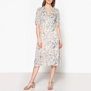 Geblümtes Kleid IDOLE mit Knopfverschluss BA&SH