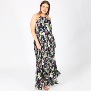 Heel lange jurk zonder mouwen met tropische print KOKO BY KOKO