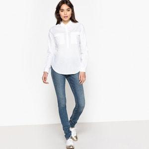 Plain Long-Sleeved Blouse with Polo Shirt Collar SCHOOL RAG