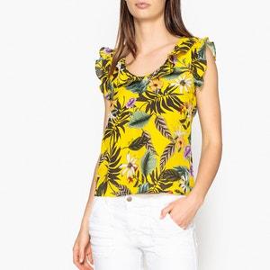 Bedruckte Bluse mit V-Ausschnitt LIU JO