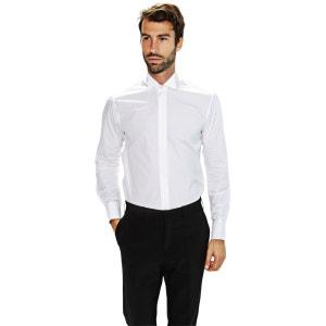 Chemise blanche col cassé et poignet mousquetaire BRUCE FIELD