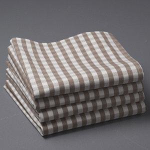Guardanapos em vichy puro algodão tecido tingido, GARDEN PARTY La Redoute Interieurs