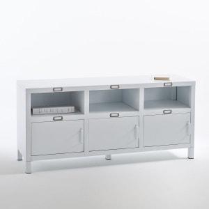Buffet 3 portes acier, blanc mat Hiba La Redoute Interieurs
