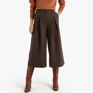 Wijde broek met broekrok stijl
