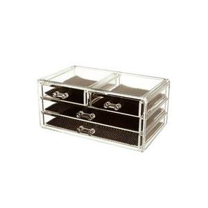 Boîte à bijoux - Acrylique transparent - 4 tiroirs INSTANT D O