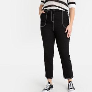 Mom jeans, contrasterende sierstiksels