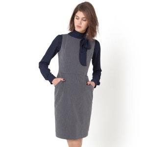 Vestido sin mangas de sarga stretch La Redoute Collections
