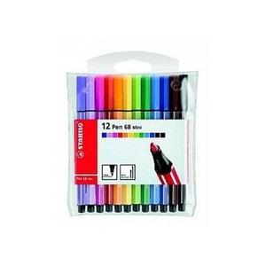 Pochette Stabilo Pen 68 Mini x 12 STABILO