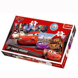 Puzzle 24 et 24 pièces : 2 puzzles : Cars à Paris et à Tokyo TREFL