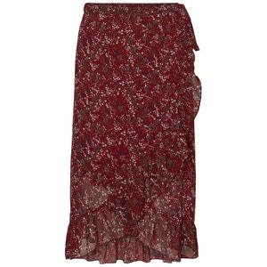 Floral Print Midi Wrapover Skirt VERO MODA