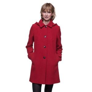 Manteau à capuche amovible en laine vierge TRENCH AND COAT