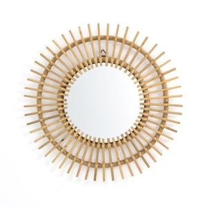 Spiegel in rotan, zonvormig Ø60 cm, Nogu