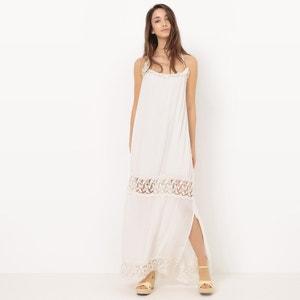 Romantische maxi jurk met smalle bandjes La Redoute Collections