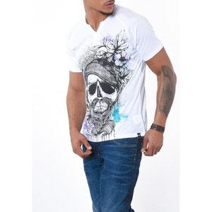 T-shirt imprimé tête de mort CHARL KAPORAL 5