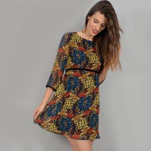 Kurzes Kleid, lange Ärmel, bedruckt MOLLY BRACKEN