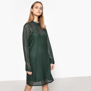 Платье кружевное прямого покроя La Redoute Collections