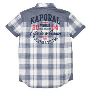 Chemise manches courtes à carreaux 10-16 ans KAPORAL