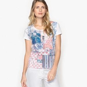 T-shirt imprimé, col rond et manches courtes ANNE WEYBURN