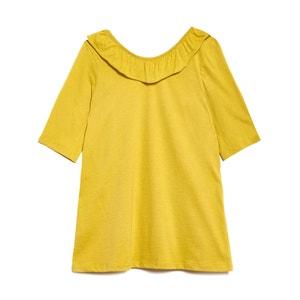 Tee shirt à encolure volantée STARDUST BLUNE