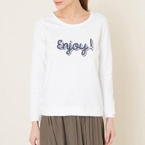Sweater met geborduurde tekst HARTFORD