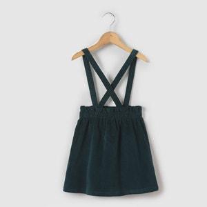 Falda de terciopelo con tirantes desmontables 3-12 años La Redoute Collections