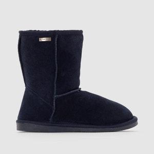 Snow Fur-Lined Leather Ankle Boots LES TROPEZIENNES PAR M.BELARBI