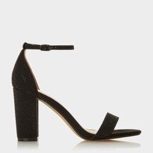Sandales à talon carré orné de strass - MADIISON
