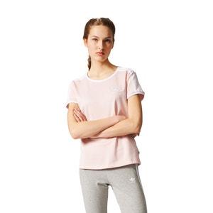 T-shirt con scollo rotondo tinta unita, maniche corte