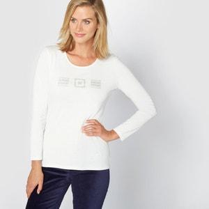 T-shirt z czystej bawelny czesanej ANNE WEYBURN