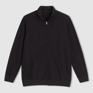 Gilet zippé maille côtelée pur coton CASTALUNA FOR MEN