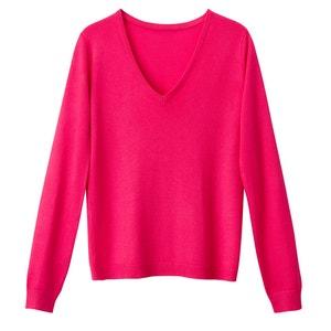 Sweter z dekoltem w serek, z cienkiej dzianiny La Redoute Collections