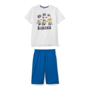 Pijama curto estampado Os Mínimos, mangas curtas LES MINIONS