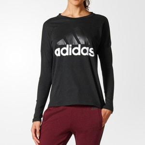 T-shirt con scollo rotondo in cotone ADIDAS