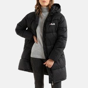Bronwed Mid-Length Padded Puffer Jacket with Hood