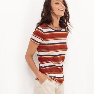 Camiseta estampada, 100% lino atelier R