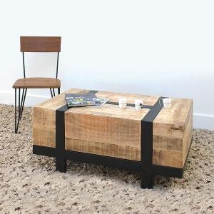 Table basse bois métal design petit modèle  |  TBIPM MADE IN MEUBLES