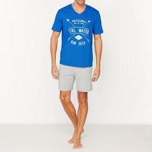 Short Cotton Jersey V-Neck Pyjamas LES PETITS PRIX