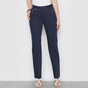 Pantalon droit, satin de coton stretch ANNE WEYBURN 9e8458de587