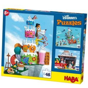 Puzzle 3 x 48 pièces : Monsieur René HABA