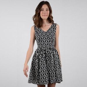 Ausgestelltes Kleid, grafischer Print, kurz MOLLY BRACKEN
