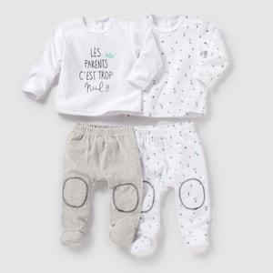 Pijama 2 prendas de terciopelo (lote de 2) 0 meses-3 años R mini