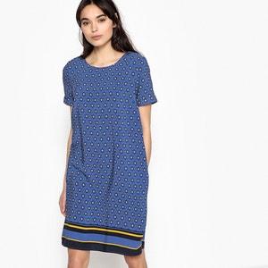 Vestido recto estampado La Redoute Collections
