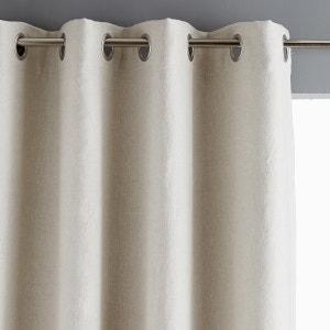 Brune 100% Pre-Washed Linen Blackout Single Curtain AM.PM.