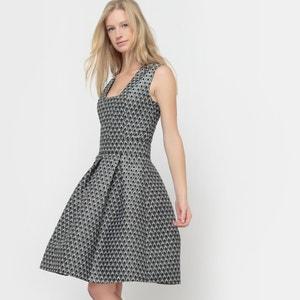 Jacquard Dress with Square Neckline R édition