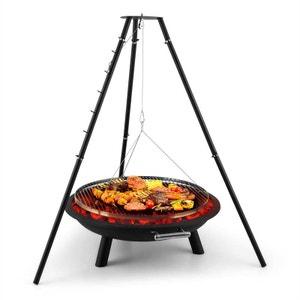 Arco Trino Grill pivotant Brasero BBQ Trépied Acier BLUMFELDT
