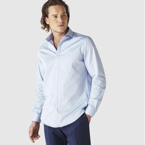 Camisa direita SHARANI em cetim de algodão CELIO